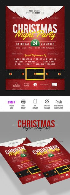#Christmas #Flyer - #Events Flyers Download here: https://graphicriver.net/item/christmas-flyer/18828040?ref=alena994