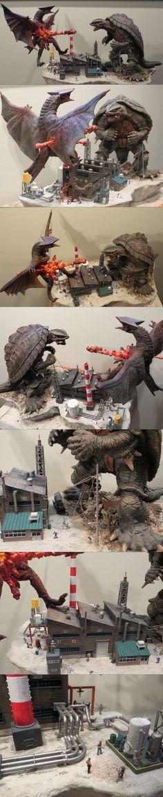 Gamera VS Gyaos Diorama by Legrandzilla on DeviantArt