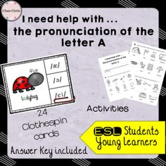 Let your students work by themselves! ☆☆☆ As you know, I am an ESL teacher. I often have students that arrive in class and that desperately need help on specific topics - that is why I decided to create a huge folder where they will find activities that will help them revise by themselves. This file is on the pronunciation of the letter
