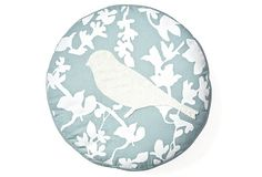 Bird Round Pillow, Blue on OneKingsLane.com