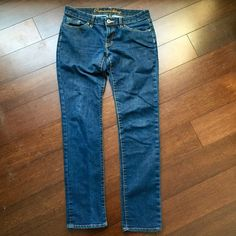 GAP jeans GAP jeans, labeled skinny but fit more like straight leg jeans. GAP Jeans Straight Leg
