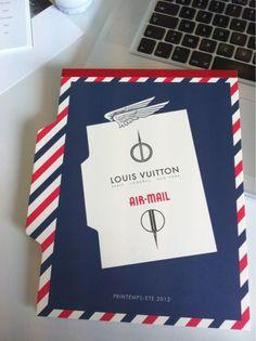 L'invitation pour le défilé Louis Vuitton qui a lieu aujourd'hui.