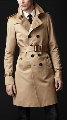 Burberry Prorsum Cotton Military Trench Coat in Beige for Men (honey)