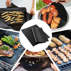 X5 Barbecue Grill Mats BBQ Pads Non-Stick Grill Sheet Cooking Mats Reusable