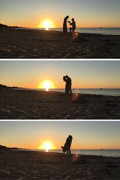 This sunset beach proposal is so stunning, and the full story is beyond romantic!