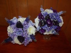These two bouquets were made for a wedding where two attendabts dropped out. Just $30.00 for both. I can design a brides bouquet, men's boutonnieres and corsages to match at a special low price.Contact me at bethlee13@yahoo.com