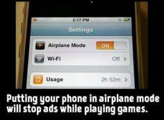Air plane mode