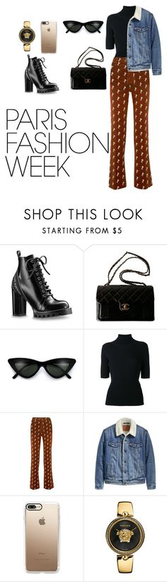 """""""paris🗼"""" by littleprincess18 on Polyvore featuring Chanel, Valentino, Chloé, Levi's, Casetify, Versace, parisfashionweek and Packandgo"""