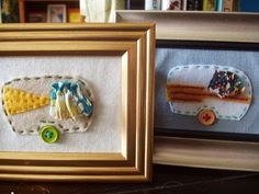 Framed Felt Embroidery - Camper Style Travel Trailer, $27