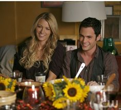 """""""Blair Waldorf Must Pie"""" --Pictured (L-R) Blake Lively as Serena and Penn Badgley as Dan in Gossip Girl on The CW. Photo Goivanni Rufino/The CW © 2007 The CW Network, LLC.  All Rights Reserved"""