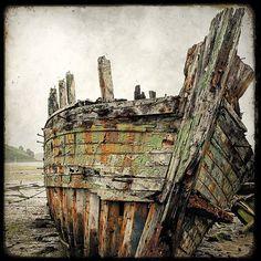 Epave de Bateau 08 - 8x8 Fine Art Print - Forgotten Ships - Boat Wreck Photography -