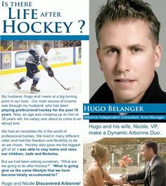 Chicago Blackhawk Hugo Belanger! Now Arbonne Independent Consultant, Area Manager. It's all about the Opportunity! Don't miss it. Guys, this IS for you too! Alanawilliams.arbonne.com