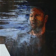 The studying the text Cyprian Nocoń Oil on canvas 2018