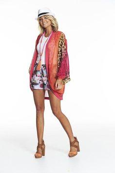Augustine Quinns Fire Kimono Short