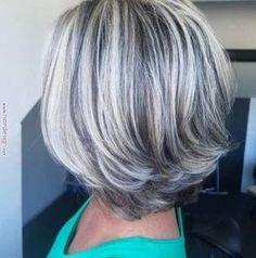 Gray Wigs Hair Brow Color For Gray HairOmbre Grey Short Hair – Aduatify Dark Grey Hair Color, Grey Wig, Short Brown Hair, Dark Hair, Blonde Hair, Hair Colour, Silver Hair Highlights, Low Lights Hair, Cheap Wigs