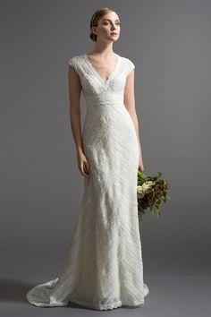 KleinfeldBridal.com: Watters: Bridal Gown: 33022211: Sheath: Empire Waist