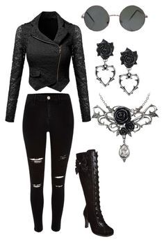 """Goth"" by bandom-stuff on Polyvore featuring River Island and Demonia"