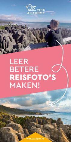 Betere reisfoto's maken. Leer hoe je mooie landschapsfoto's maakt, zoals hier bij Pancake rocks in Nieuw-Zeeland. Het boek reisfotografie staat boordevol fotografietips en inspiratie voor het maken van mooiere foto's op je vakantie. #reisfotografie #fotografietips
