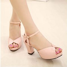 2014 summer new open toe shoe sandals for women high-heeled shoes sweet thick heel sandals platform female shoes all-match