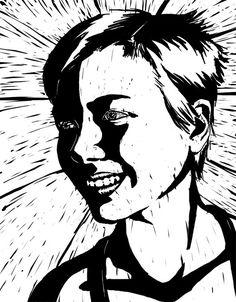 Self Portrait 2008 - Lino by ~Frodomeg on deviantART
