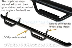 jeep wrangler unlimited black powder coated tube step up rails