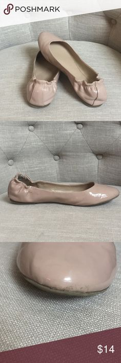 Mossimo Nude Flats Great Condition! Just has some wear on the toe of the left shoe(see picture 3) Mossimo Supply Co. Shoes Flats & Loafers