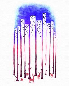 Negative Space Art by Tang Yau Hoong | Bored Panda