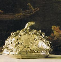 One of several silver covered dishes made for the royal collection F.T. Germain c. 1757
