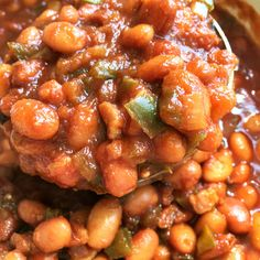 Root Beer Baked Beans with bacon