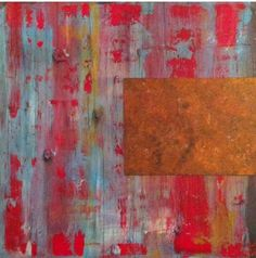 #Original #Abstract #Painting #Acrylic #Red #Rust
