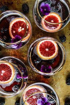 Cocktail • Blood Orange Blackberry Rum Punch •