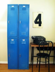Blue locker. need something like this in my room to put my stuff in and lock it up so no one takes my stuff. thats my pet peeve