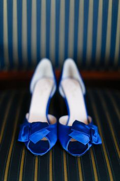 Kate Spade Sala Pump in Cobalt // Photo from Annie & Joe- Wedding collection by Kina Wicks Prints