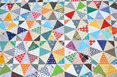 Kaleidoscope Scrap Quilt Top