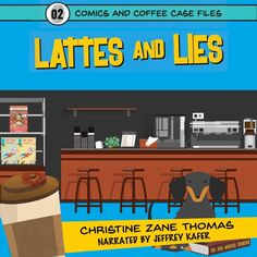 Lattes and Lies: Comics and Coffee Case Files Book 2 (Unabridged) The perfect poison. Kirby Jackson is excited when Memaws book club plays host to his favorite mystery author. But the night ends on a sour note with the death of Memaws friend Barb. The only secrets Barb Simone ever kept were those about herself. No one knew she had cancer. No one knew she had a boyfriend. And no one knew she was the basis for a character in a best-selling mystery series. But it wasnt cancer that killed Barb… Mystery Series, Mystery Books, Cozy Mysteries, Latte, Television Program, Agatha Christie, Free Kindle Books, Audio Books, Books To Read