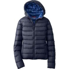 Uniqulo. WOMEN IDLF ULTRA LIGHT DOWN HOODED JACKET; love this light hooded jacket. packs down really well!