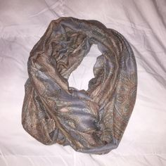Infinity Scarf Patterned infinity scarf. Thin. Worn once. Accessories Scarves & Wraps