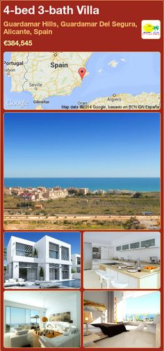 4-bed 3-bath Villa for Sale in Guardamar Hills, Guardamar Del Segura, Alicante, Spain ►€384,545