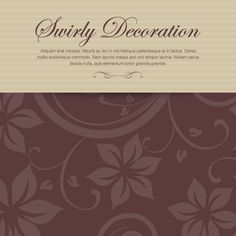 Swirly Decoration, DryIcons.com #menu #restaurant #design #flowers