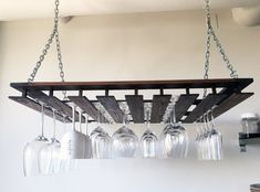 Custom Hanging Wine Glass Rack