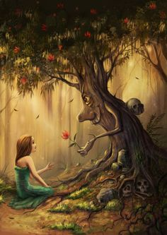I have no idea who the artist is, but I love this enchanted tree.