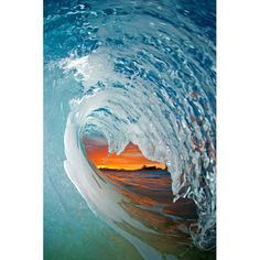 I'm in awe of Clark Littles photography of inside waves.  Absolutely beautiful