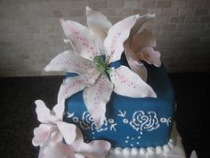 tiered birthday cakes | Tiered 75th Birthday Cake » Diary of a Cakeaholic
