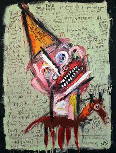 "Matt Sesow painting ""Stuck inside my head again (with birthday pony)""  canvas"