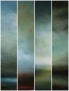 Slices of sky paintings by Sharon  Kingston