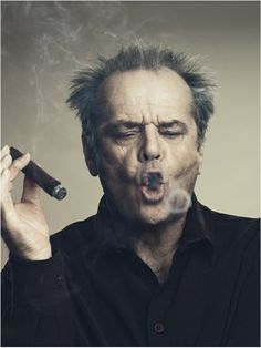 mr. nicholson with his cigar ( I hope you do not mind if I use a number of your .pins. they are so great - Thanks, Cindy)