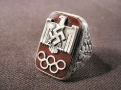 1936 Nazi Olympic rings were given to individuals who helped make the Berlin games successful.