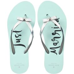 kate spade new york Nadine Flip Flop Sandals ($65) ❤ liked on Polyvore featuring shoes, sandals, kate spade shoes, beach sandals, beach shoes, bow shoes and beach footwear