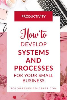 Having systems and processes in place helps improve your business productivity. Start by identifying core business processes. Need examples of business systems? Or want to discover how to identify critical business processes? Click through for simple business process examples that you can use in your own entrepreneur business. #productivity #solopreneur