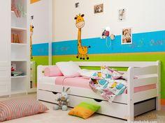 Кровать Соня 1 под матрас размером 90х190см понравится не только подросткам, но и взрослым, так как на ней свободно может разместится человек среднего роста и телосложения. В белом цвете с розовым текстилем эта кровать станет отличным спальным местом в комнате девочки